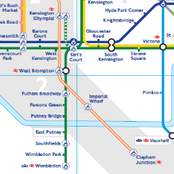 Partial Map of the London Underground