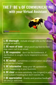 The 7 'BE's of Communicating with Your Virtual Assistant