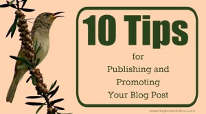 10 Tips for Publishing and Promoting Your Blog Post