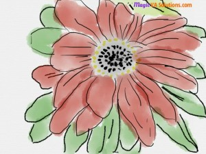 Watercolour Flower made with Sketches drawing app by Tayasui