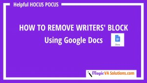 How to Remove Writers Block - Thumbnail Image
