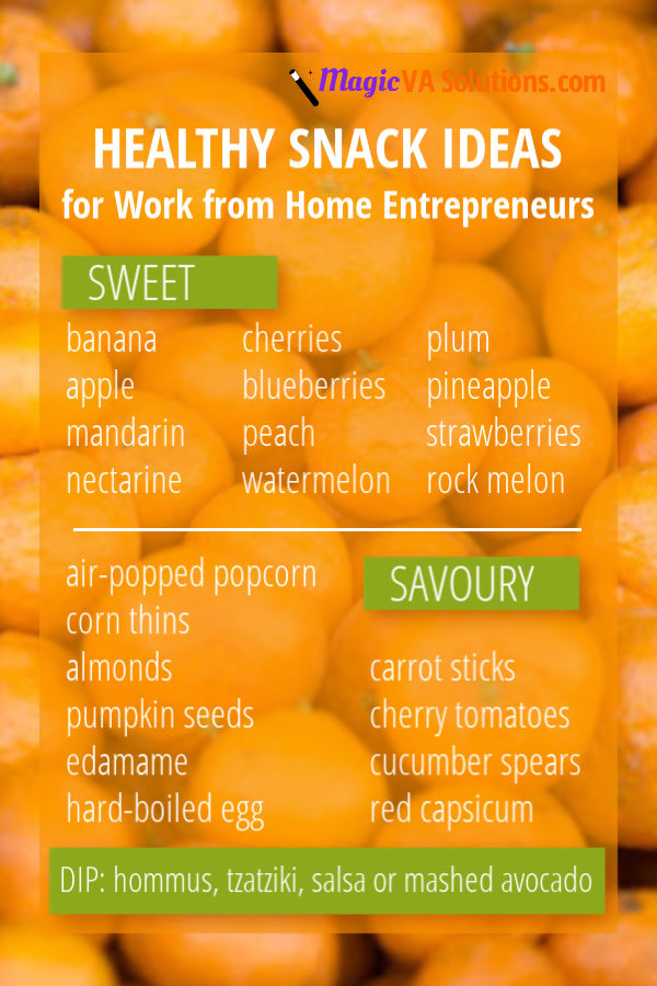 Healthy Snack Ideas for Work from Home Entrepreneurs
